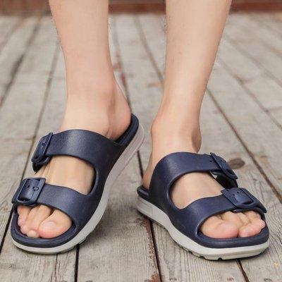 涼鞋男 男士拖鞋夏外穿一字拖鞋男潮室外涼拖鞋防滑涼鞋拖鞋男 家用夏季 【都市衣櫥】