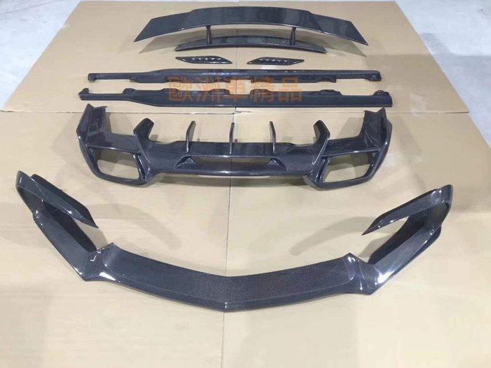 歐洲車精品 BENZ 賓士 X290 GT 前+後下巴 側裙定風翼 尾翼 GT43 GT53 碳纖維套件 密合度最優