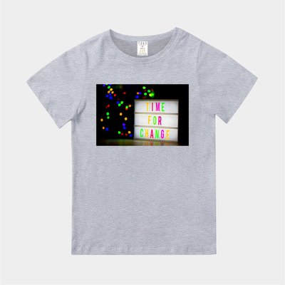 T365 MIT 親子裝 T恤 童裝 情侶裝 標語 話題 口號 美式風格 slogan TIME FOR CHANGE