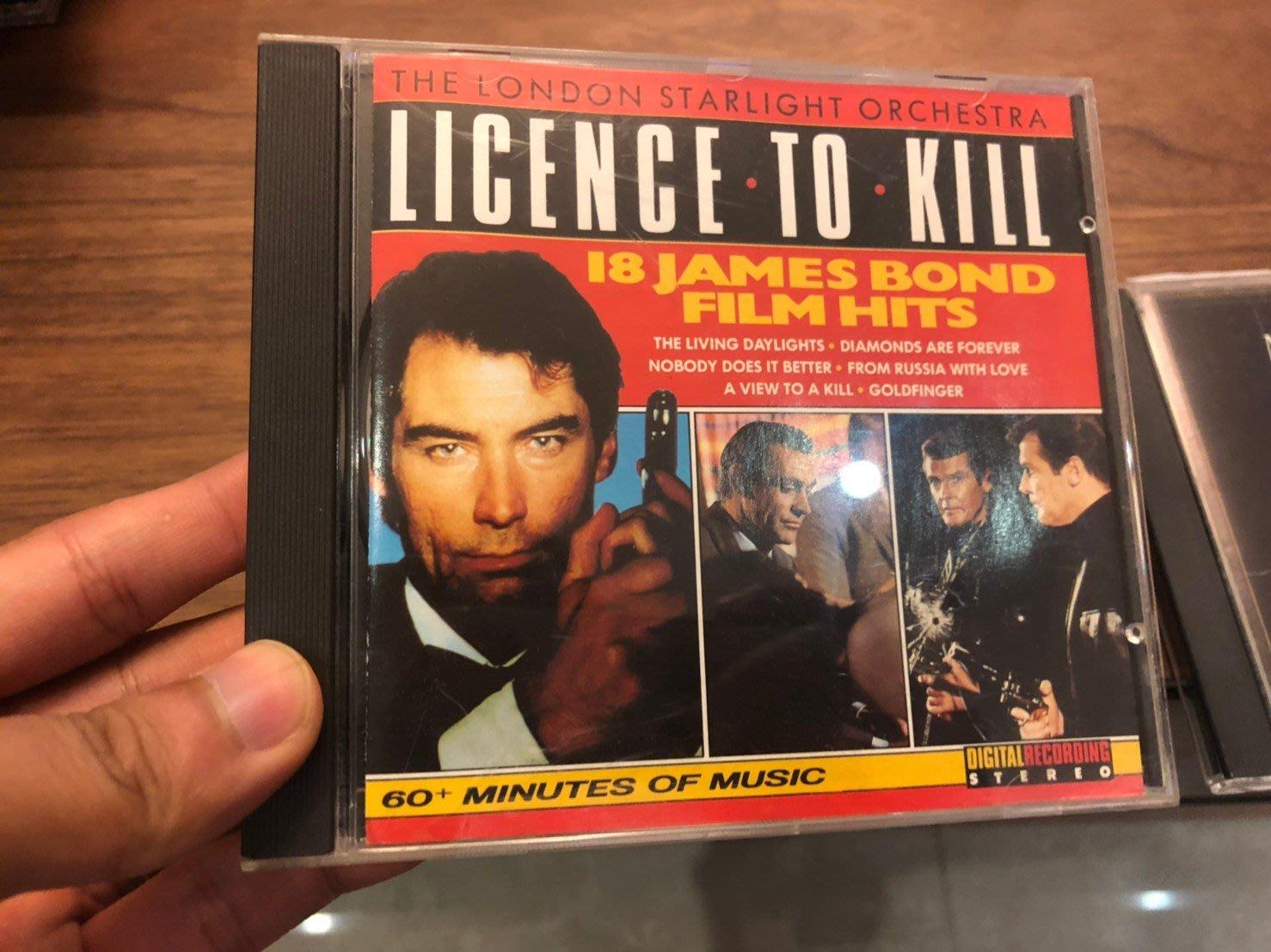 LICENCE TO KILL 18 JAMES BOND FILM HIT 無刮痕 cd
