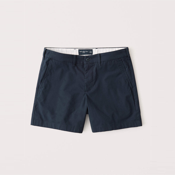 【Abercrombie&Fitch】【A&F】AF男款休閒短褲短版黑藍 F02200915-13