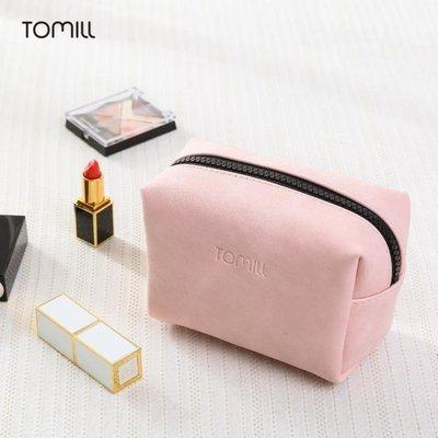 韓國便攜簡約軟妹可愛少女化妝包小號口紅包隨身手拿防水化妝品袋