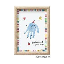 Shachihata 手印/足跡藝術製作套件 (藍色)