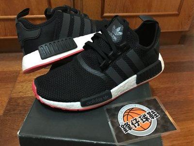 【 鋒仔球鞋】ADIDAS NMD R1 BOOST 黑白 紅底 透氣  網布 百搭 休閒 慢跑鞋 CQ2413