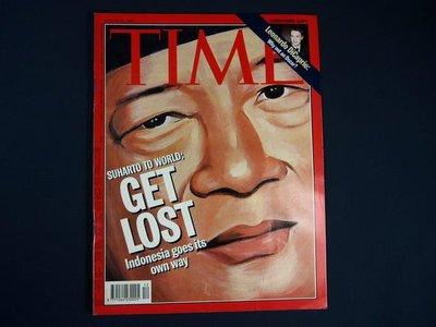 【懶得出門二手書】英文雜誌《TIME 1998.03.23》SUHARTO TO WORLD:GET LOST(無光碟)│(21F11)