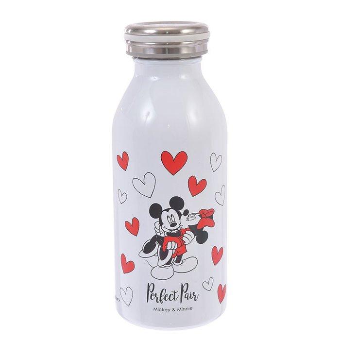 350ml 2019情人節《現貨》日本迪士尼商店 米奇米妮 不鏽鋼 保溫瓶 保溫保冷 不鏽鋼保溫瓶 牛奶瓶 隨身瓶