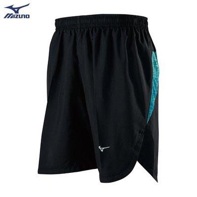 棒球世界全新【MIZUNO 美津濃】男款路跑短褲 J2TB955293(黑X松石綠)特價
