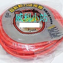 【威利小站】2條 電精靈 F727-50L ( 40公尺/ 米 ) 超軟 動力延長線組 2蕊2.0mm (附燈) 足蕊