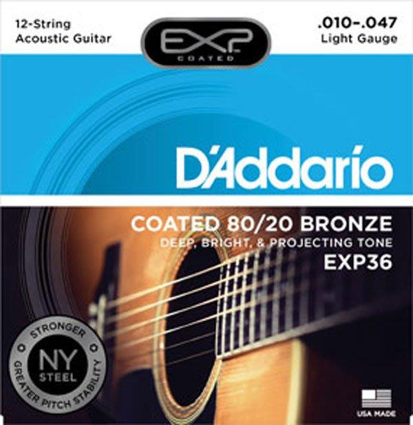 《民風樂府》美國 DAddario EXP-36 NY 12弦民謠吉他用弦 現貨在店