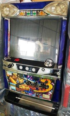 日本原裝機台SLOT 斯洛 2005鬼武者3 四號機復古風格.早期名機.插電就可玩 非小鋼珠.打造自己遊戲空間收藏品