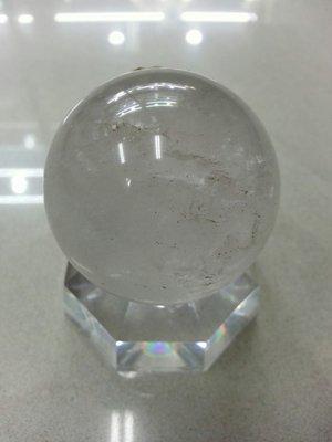 白水晶球重量154g直徑4.8公分/-(不含底座)底座+100元