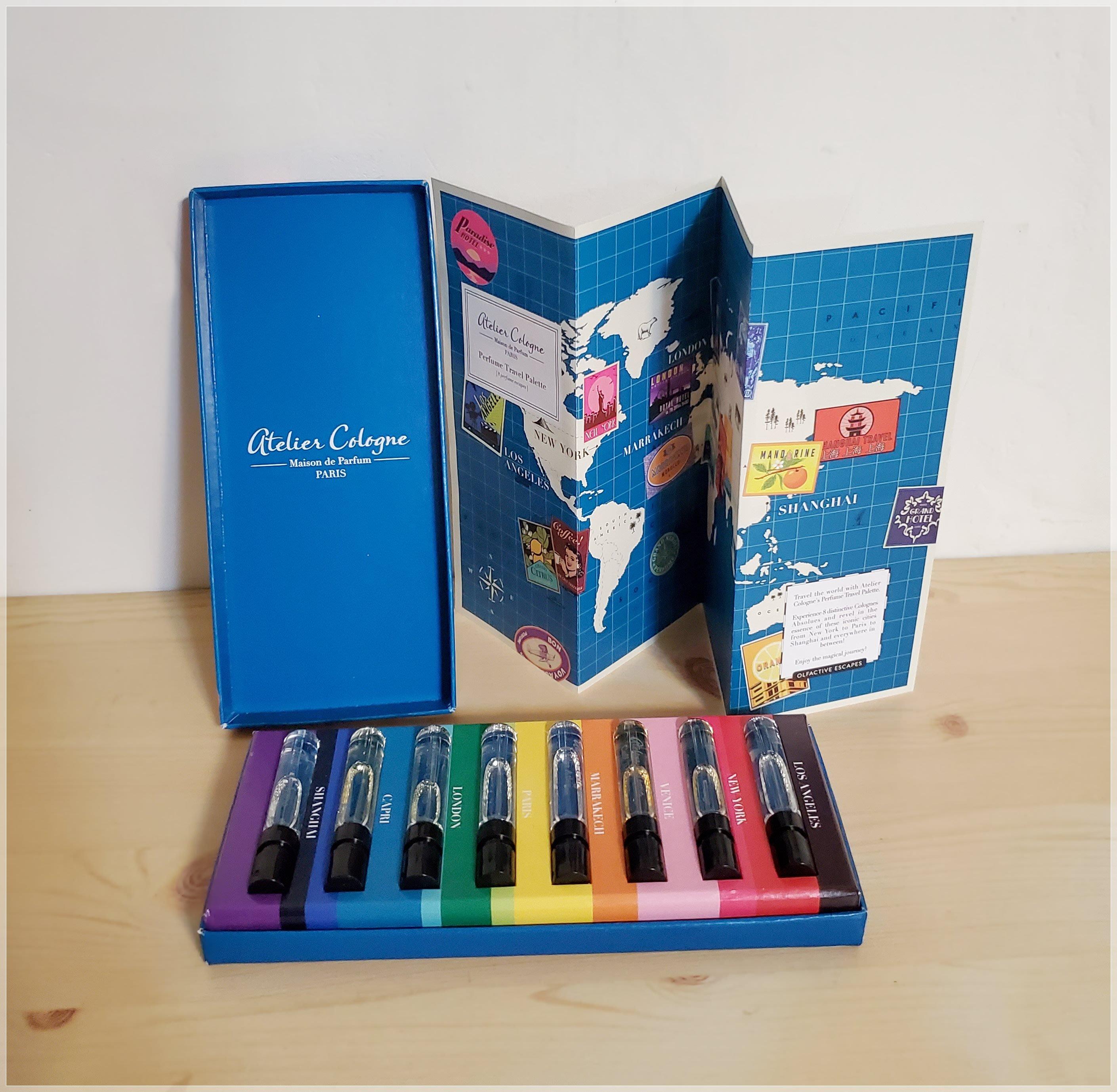 法國【Atelier Cologne】歐瓏 頂級沙龍香水 2ml X 8 香水禮盒【世界地圖版】