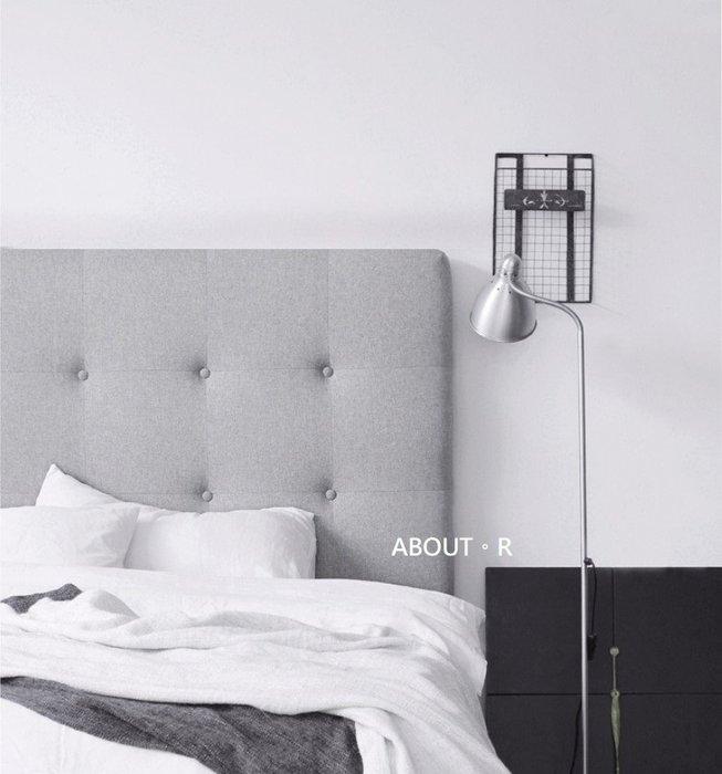 ABOUT。R 北歐床頭片軟包床頭墊亞麻布藝床頭片靠墊灰色床頭片雙人床靠背墊枕可拆洗布藝棉麻床頭罩套可依尺寸訂製多色可選