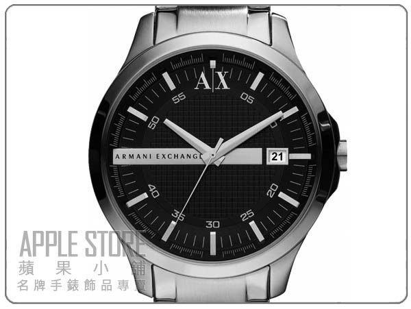 【蘋果小舖】A/X Armani Exchange 格紋紳士男錶-黑# AX2103 (公司貨保固2年)