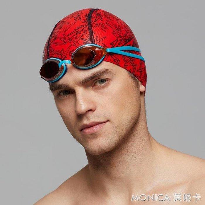 泳帽 泳感健身高效防氯舒適面料 經典字母男女通用泳帽