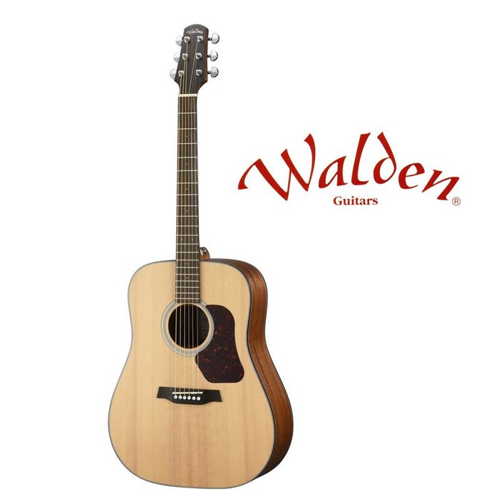 ☆唐尼樂器︵☆分期免運 Walden NATURA D550E 西卡雲杉 面單板 41吋 D 桶身 民謠吉他 電木吉他
