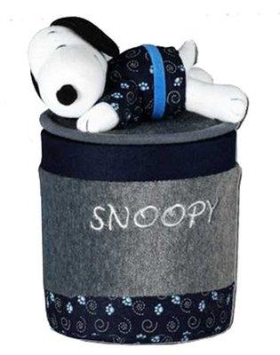 【卡漫迷】SNOOPY 和風 置物桶 ㊣版 史奴比 史努比 絨毛 車用 車內 掀蓋式 垃圾桶