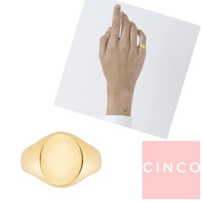 CINCO 葡萄牙精品 Giovanna ring 24K金尾戒 圓形素面尾戒