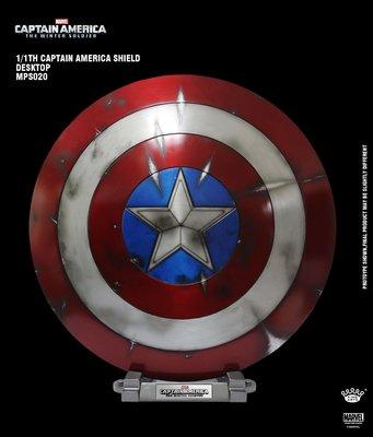 (參號倉庫) 受注下單 King Arts 電影道具系列 MPS020 1/1 美國隊長2 臺座盾牌 戰損版 合金