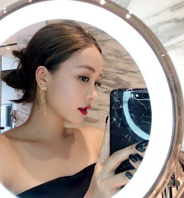 《巴黎拜金女》流蘇耳環女銀針耳釘網紅冷淡風氣質耳飾