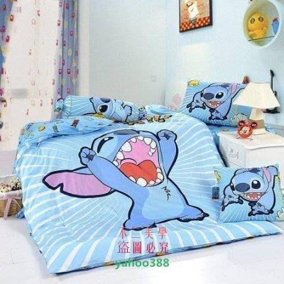 美學185史迪奇  迪士尼單人 雙人床件組 床罩組 床單組 床包組(被套枕❖51120