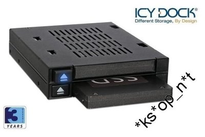 {MPower} 台灣名廠 ICY Dock MB522SP-B 2Bay 2.5 SATA SAS HDD SSD Mobile Rack 抽取盒 -原裝行貨