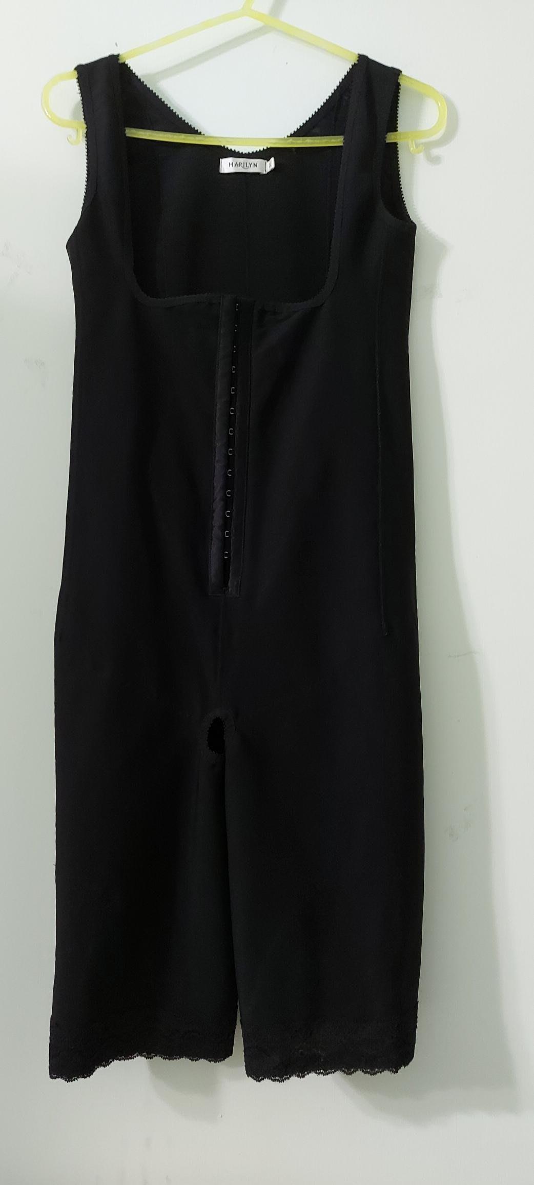 塑身衣頂級品牌 瑪麗蓮MARILYN 彈力塑身連身連體衣,黑無袖連褲底挖洞,單排扣01碼,個人認為較適合平常穿(大S跟M碼 )三宅 夏姿 維納斯 蘿琳亞 蕾迪琳