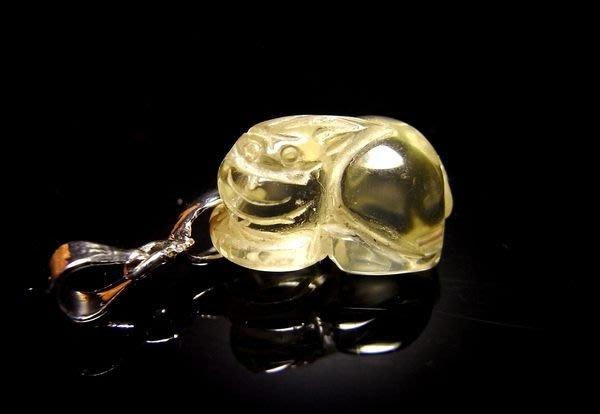 小風鈴~天然高檔清料黃水晶貔貅墬~鎮宅.避邪.咬財~財運石(單隻起標)