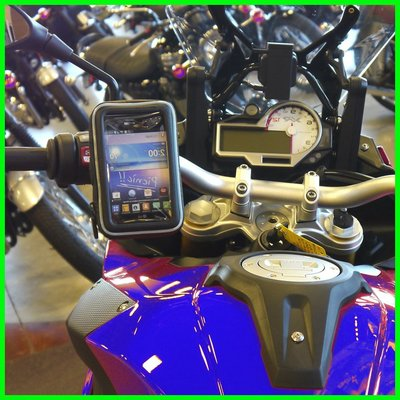 yamaha triumph hartford bmw gps iPhone XR 8山葉馬車摩托車導航平衡桿車架手機座