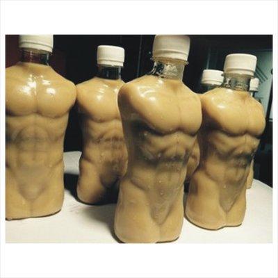 小鮮肉瓶 奶茶空罐 腹肌 人型裸體 飲料罐 350ml 男款 日本限定 飲料瓶 塑膠瓶 瓶罐批發-09  360支單價
