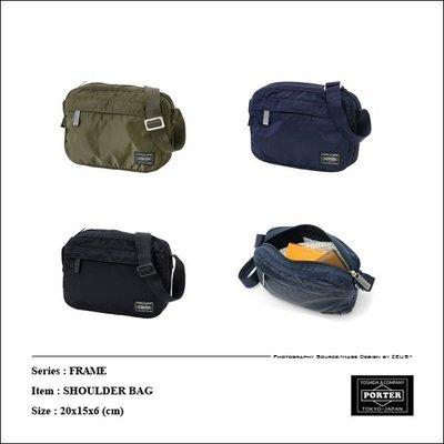 *ZEUS*日本吉田PORTER FRAME SHOULDER BAG/日標x日本製x微光澤感軍規尼龍布面x小包x側背包