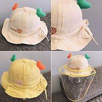 嬰兒帽子夏日防曬防飛沫清涼