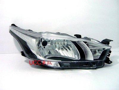【UCC車趴】TOYOTA 豐田 YARIS 14(9月)-15 16 17 18 原廠型 大燈 TYC製 一組4200