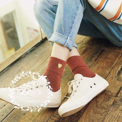 【ZEU'S】韓國學院風甜美愛心中筒襪『 02119429 』【現+預】B