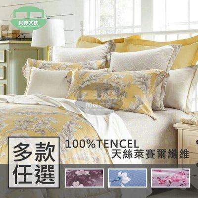 §同床共枕§TENCEL100%60支天絲萊賽爾纖維 加大6x6.2尺 薄床包舖棉兩用被四件式組-多款選擇