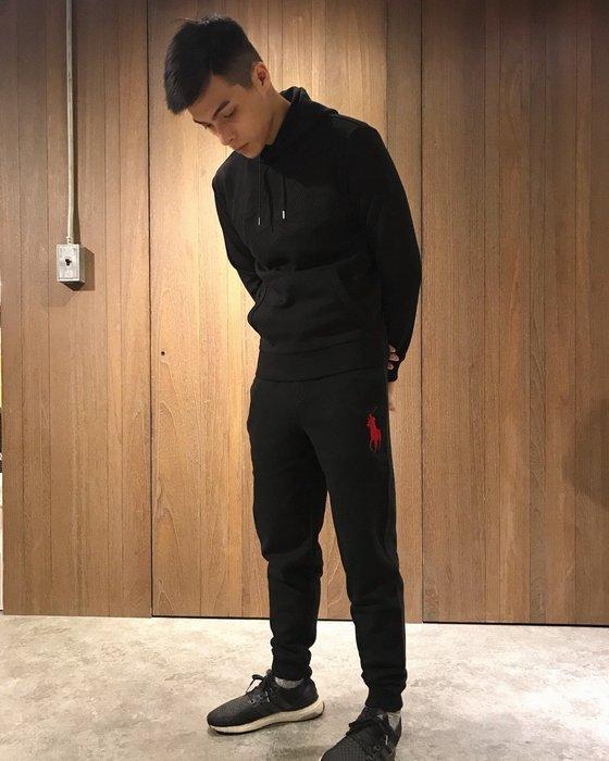 美國百分百【Ralph Lauren】棉褲 長褲 休閒褲  大馬 RL  POLO 運動褲 褲子 黑色 XS號 J182