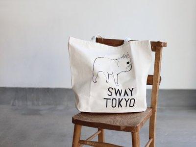 sway tokyo 手繪法國鬥牛犬帆布包托特包 小穎kashin