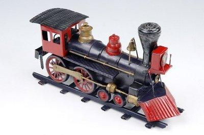[ 尚霖模型館 ]模型古董火車 { H121-6 }古董 蒸汽 火車頭 1869 USA