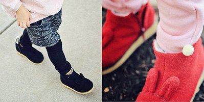 《公主&王子的穿衣鏡》正韓Annika可愛小兔造型雪靴(黑180)~全新品出清~一元起標