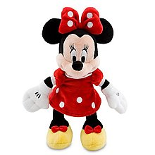 【QQ公仔物語】【DB010】【現貨】迪士尼 Disney 米妮 Minnie 9吋 紅色 手抱布偶 正品 可面交