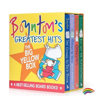 英文原版進口啟蒙繪本Boyntons Greatest Hits The Going to Bed Book 4本奶牛