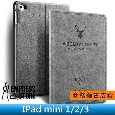 【妃小舖】iPad mini 1/2/3 鹿頭 鄉村風 復古/帆布紋 二折/支架/止滑 休眠/喚醒 平板 皮套/保護套