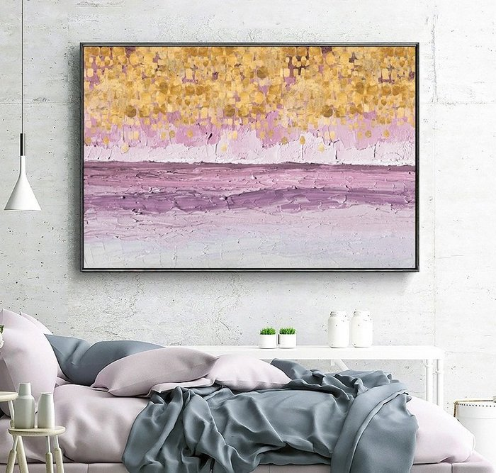 歐式夢幻星空裝飾畫畫芯簡約現代臥室過道客廳沙發背景牆(2款可選)