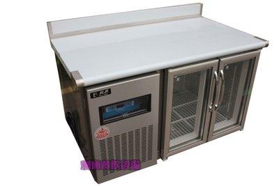 《利通餐飲設備》4尺 瑞興全冷藏工作台冰箱 臥室冰箱冷藏玻璃門 台灣製造