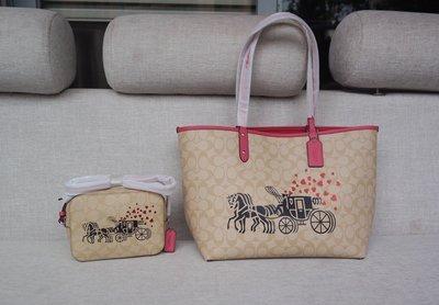 【Woodbury Outlet Coach 旗艦館】COACH 91011 雙面用托特包 購物袋 美國代購100%正品