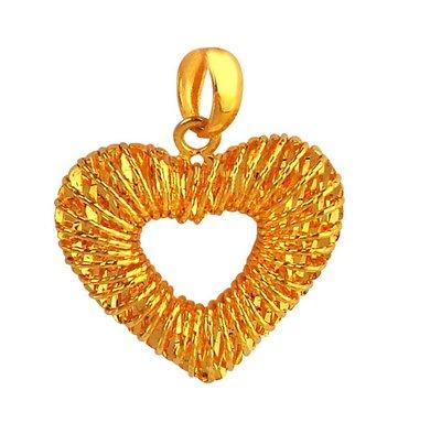 【JHT 金宏總珠寶/GIA鑽石】1.11錢多層次纏繞黃金吊墜