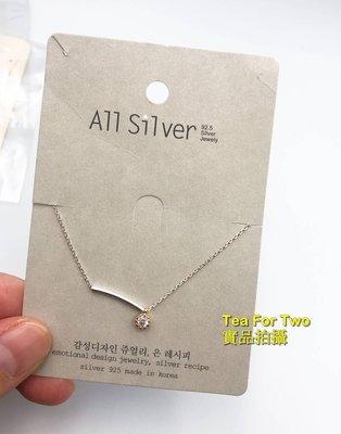 現貨 - 鎖骨項鏈 -小單顆鑽石