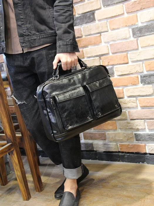 FINDSENSE 男包 G6 男用休閒包 公事包2019新款皮質商務包手提包單肩斜挎包韓版潮流背包