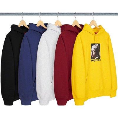 【美國鞋校】預購 Supreme FW20 Pearl Hooded Sweatshirt 戴珍珠耳環的少女 帽tee