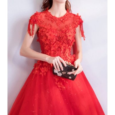 (45 Design) 高雄最便宜訂製禮服區.公主新娘婚紗禮服齊地蓬蓬顯瘦.商品編號A14